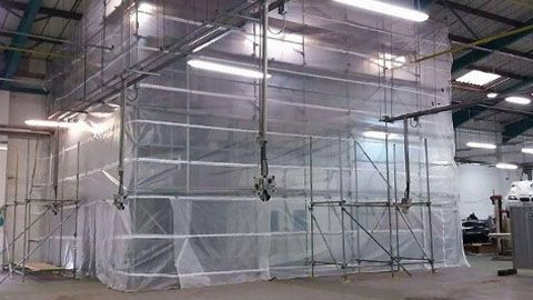 Our scaffolding on a customers factory.